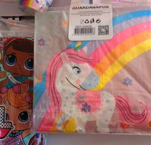 Guardanapos De Papel Unicornio 33X33 C/16
