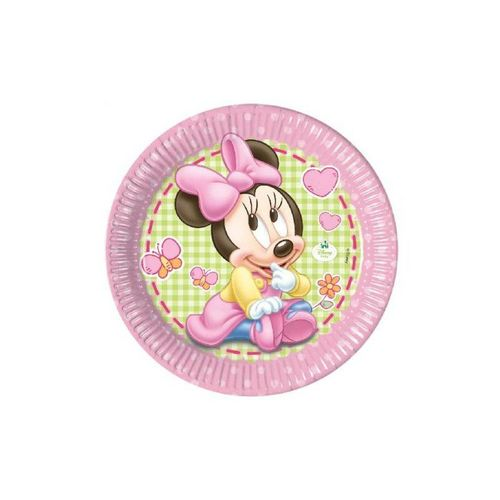 Pratos 20cm Baby Minnie c/8