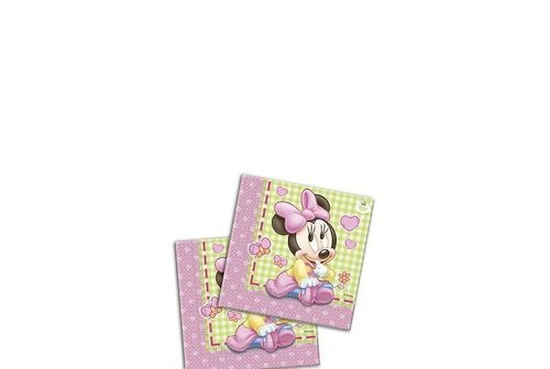 Guardanapos Minnie bebe 33x33cm  c/20