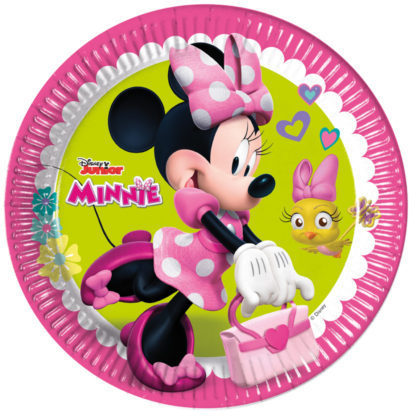 Pratos minnie helpers 23 cm c/8